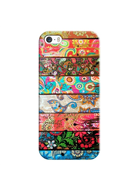 People's Cover iPhone 5/5S Kabartmalı Telefon Kılıfı Renkli
